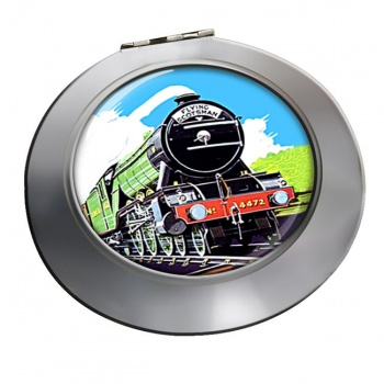Flying Scotsman Vintage Poster Chrome Mirror