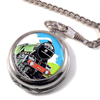 Flying Scotsman Vintage Poster Pocket Watch