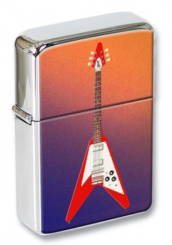 Flying V Guitar Flip Top Lighter