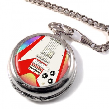 Flying V Guitar Pocket Watch