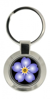 Forget-me-not Chrome Key Ring