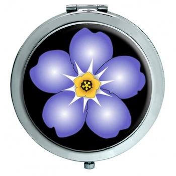 Forget-me-not Chrome Mirror