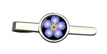 Forget-me-not Round Tie Clip