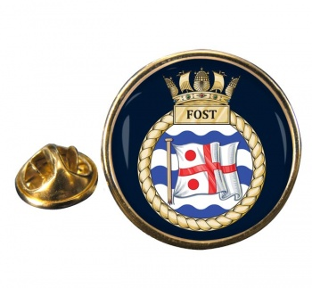 Flag Officer Sea Training (FOST) RN Round Pin Badge