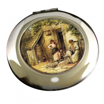 The Lacemaker by Foster Round Mirror