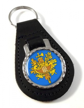 France (Crest) Leather Key Fob