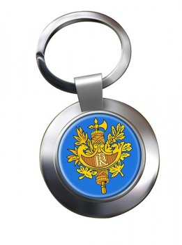 France (Crest) Metal Key Ring