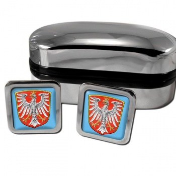 Frankfurt am Main Germany Square Cufflinks