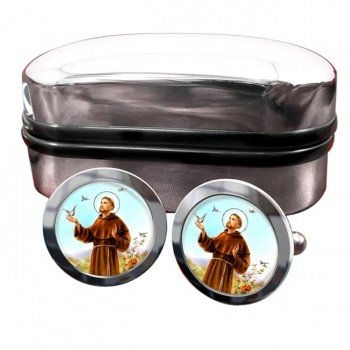 Francis of Assisi Round Cufflinks