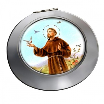 Francis of Assisi Chrome Mirror