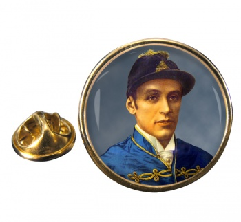 Fred Archer Round Pin Badge