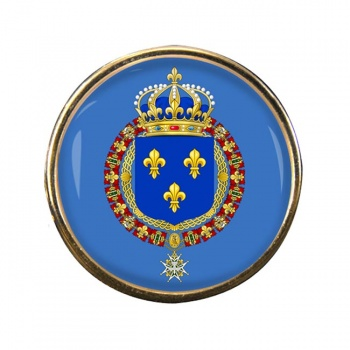 Les grandes armes de France Round Pin Badge