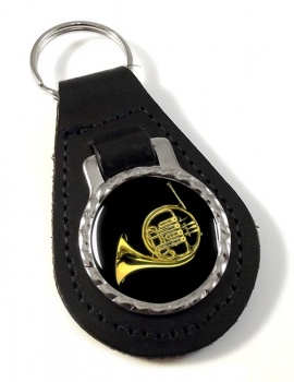 French Horn Leather Key Fob
