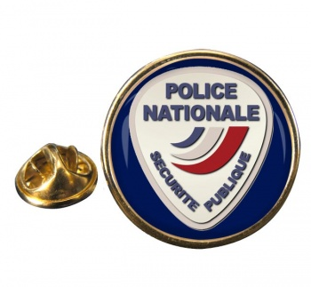 Police nationale Round Pin Badge