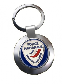 Police nationale Chrome Key Ring