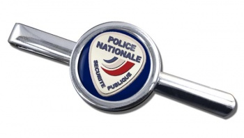 Police nationale Round Tie Clip