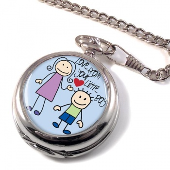 Love From Your Little Boy Pocket Watch