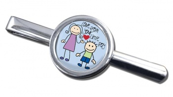 Love From Your Little Boy Round Tie Clip
