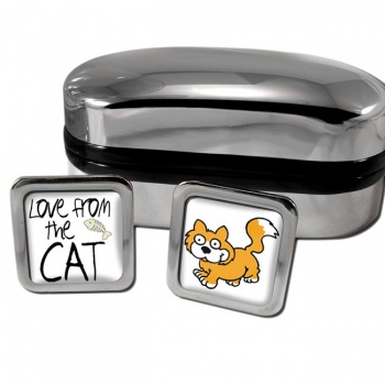 Love from the cat Square Cufflinks