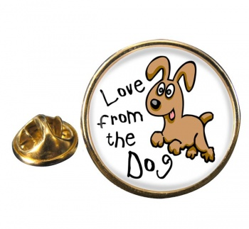 Love from the dog Round Pin Badge