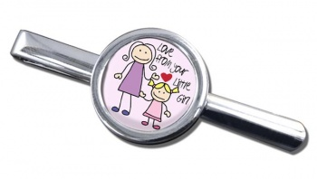 Love From Your Little Girl Round Tie Clip