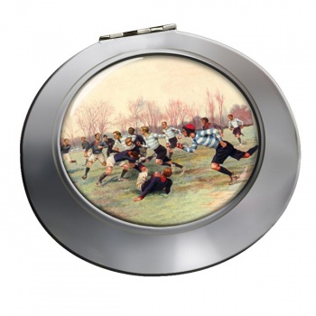 French Rugby at St. Cloud 1906 Chrome Mirror