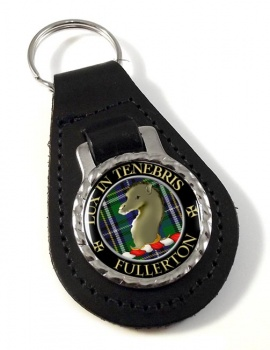 Fullerton Scottish Clan Leather Key Fob
