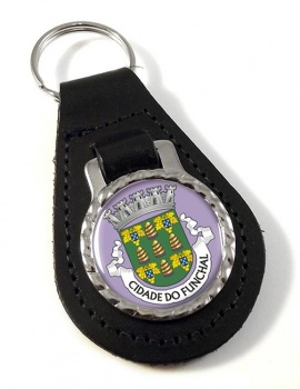 Funchal (Portugal) Leather Key Fob