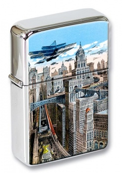 America of the Future Flip Top Lighter