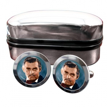 Clark Gable Round Cufflinks