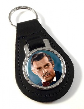 Clark Gable Leather Key Fob