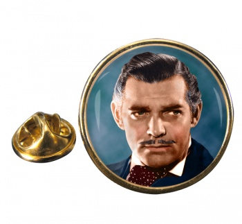 Clark Gable Round Pin Badge