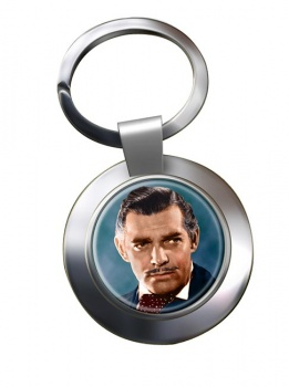 Clark Gable Chrome Key Ring