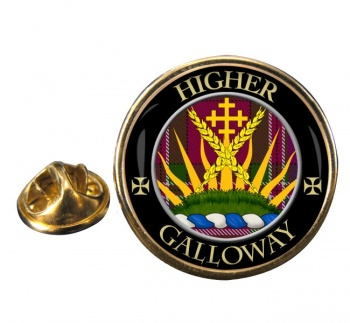 Galloway Scottish Clan Round Pin Badge