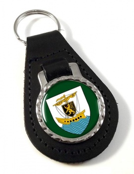 Galway City (Ireland) Leather Key Fob