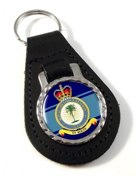 RAF Station Gan Leather Key Fob
