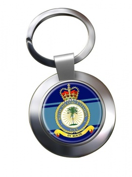 RAF Station Gan Chrome Key Ring