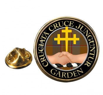Garden Scottish Clan Round Pin Badge