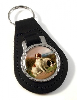 Two Spaniels by Henry Garland Leather Key Fob