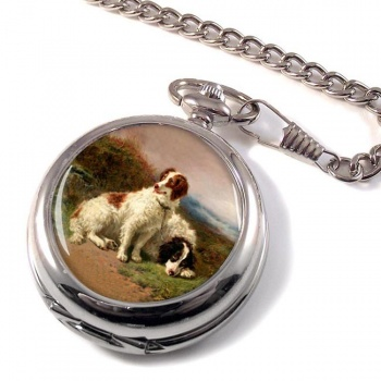 Two Spaniels by Henry Garland Pocket Watch