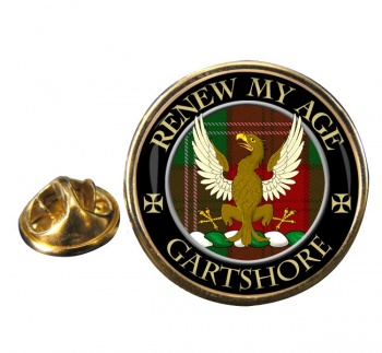 Gartshore Scottish Clan Round Pin Badge