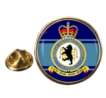 RAF Station Gatow Round Pin Badge
