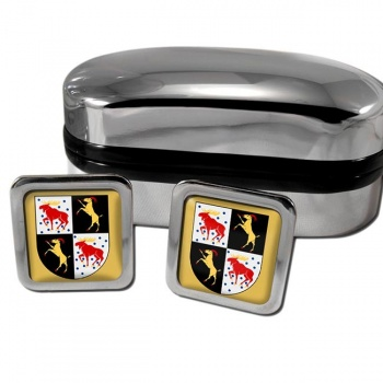 Gavleborg Sweden Square Cufflinks