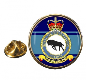 RAF Station Gaydon Round Pin Badge