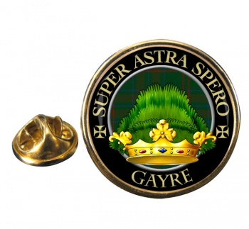 Gayre Scottish Clan Round Pin Badge