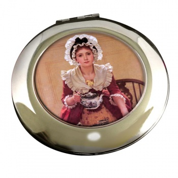 Tea by George Dunlop Leslie Round Mirror