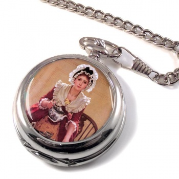 Tea by George Dunlop Leslie Pocket Watch
