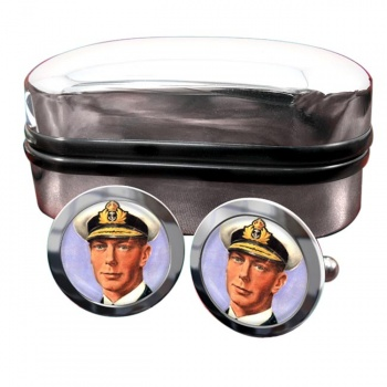 King George VI of Great Britain Round Cufflinks