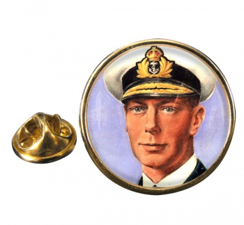 King George VI of Great Britain Round Pin Badge