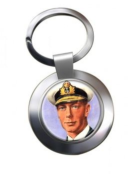 King George VI of Great Britain Chrome Key Ring